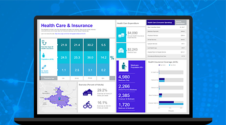 healthcare and insurance dashboard