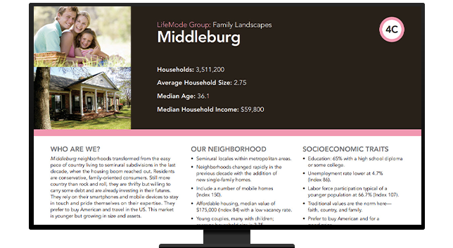 Description of Middleburg demographic group