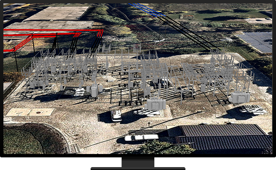 imagery of a substation