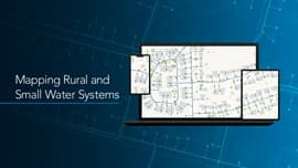 "Image of multiple devices against a digital blue background that reads, ""Mapping Rural and Small Water Systems"""
