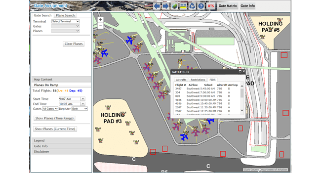 Gate Assignment displays critical and timely flight information, so operators can easily and flexibly assign aircraft to appropriate structures with just a few clicks.