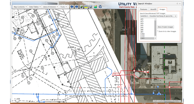 The Master Utility Viewer (MUV) application enables airport workers to see what lies below ground
