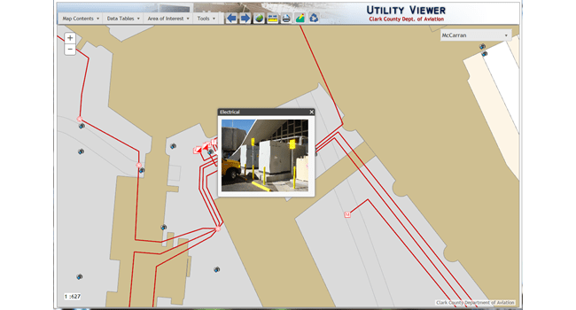 Field crews access the Master Utility Viewer application from field devices.